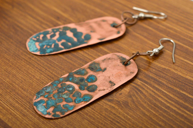 Dangle Earrings Handmade Copper Designer Metal Unusual Jewelry For Gift Madeheart