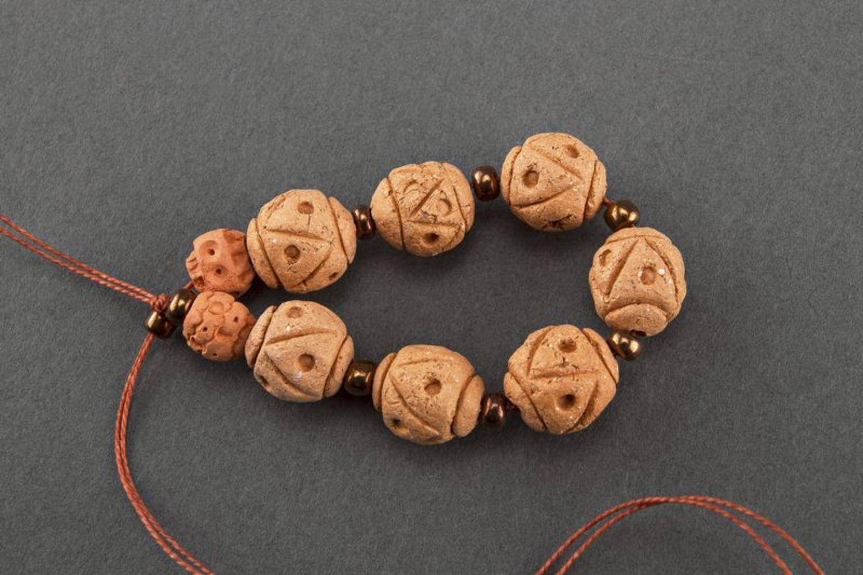Керамический браслет в этническом стиле фото 1