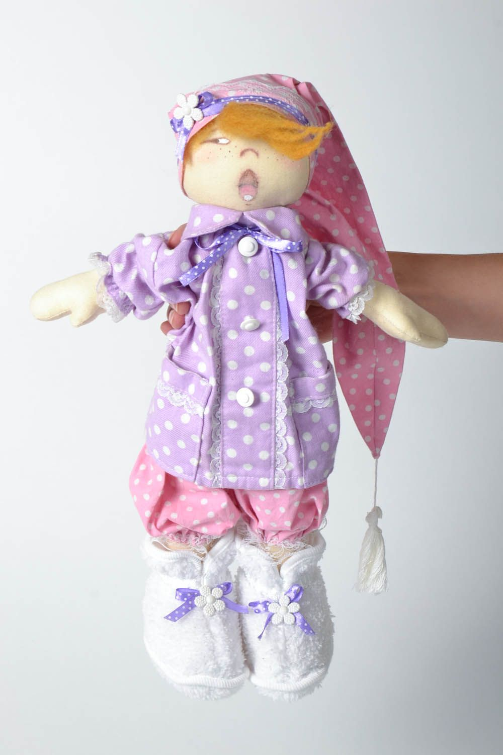 Decorative doll Sonya with a Pillow photo 5