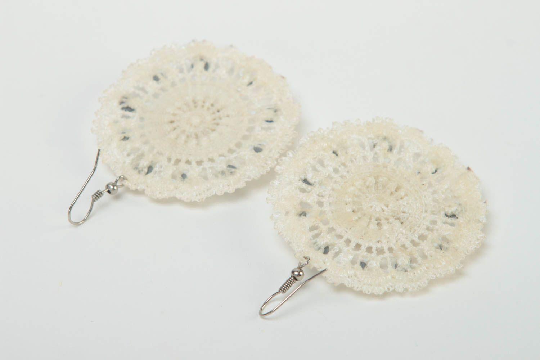 Серьги ручной работы серьги из бисера модные серьги дизайнерское украшение фото 4