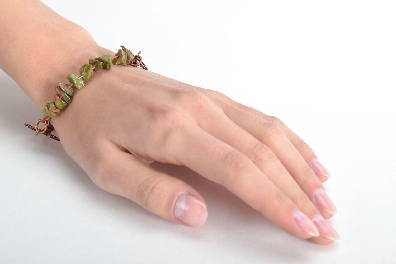 Kupfer Armband mit echtem Stein foto 2