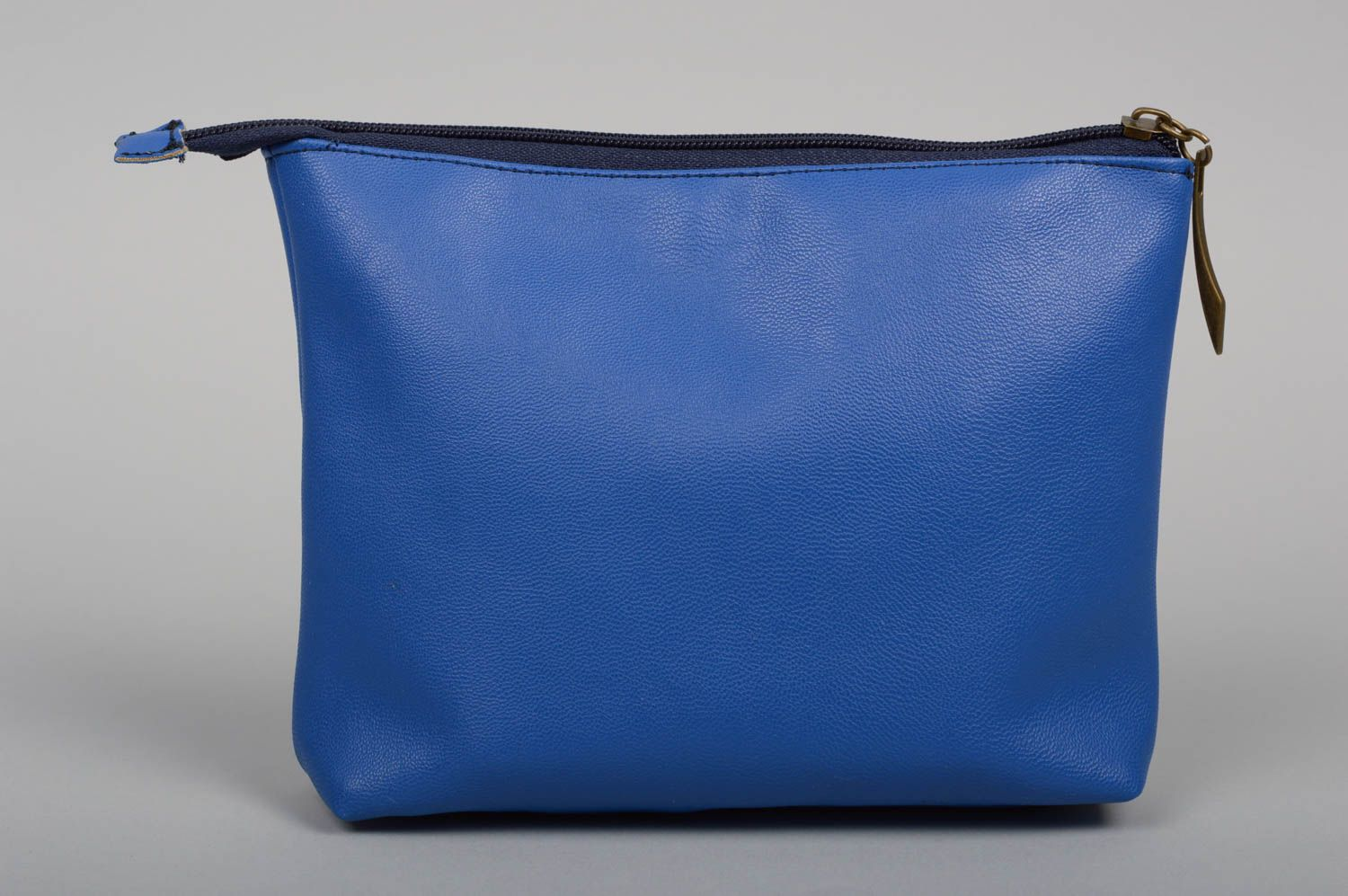 Handmade clutch bag women blue clutch leatherette bag unusual female accessory photo 2