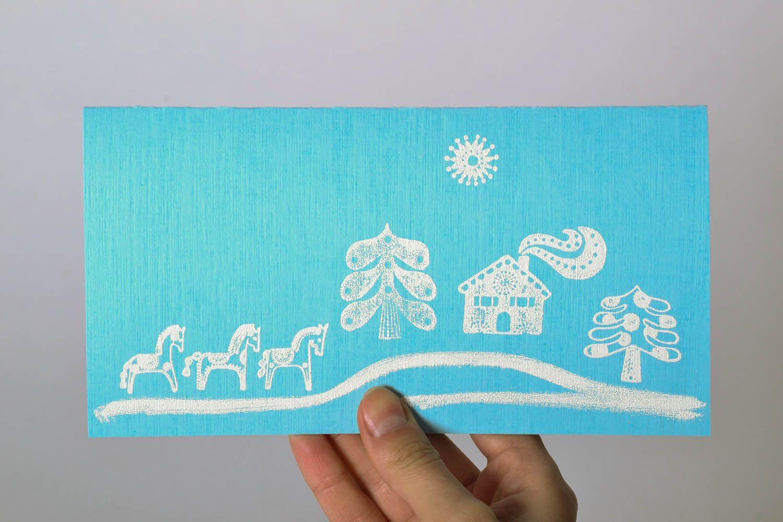 Blue greeting card photo 5