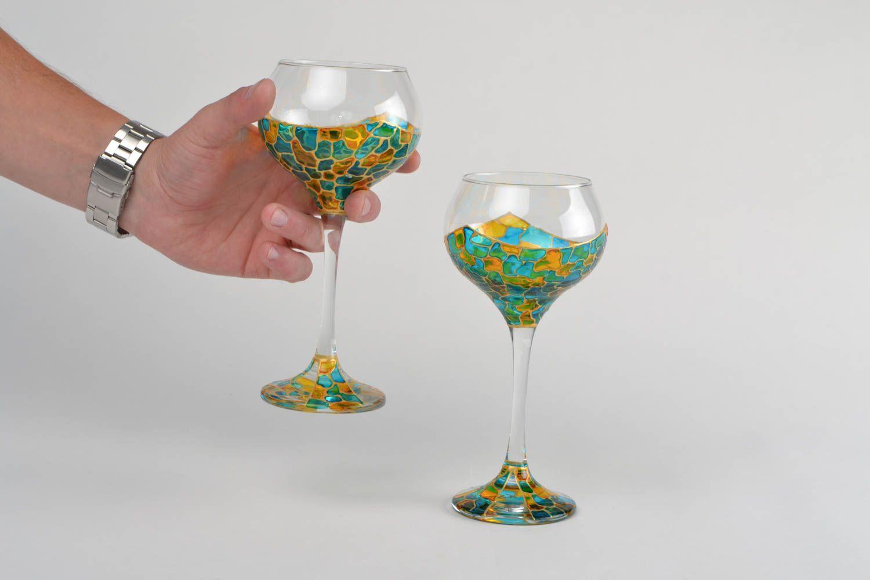 Madeheart copas de cristal decoradas con tintes de for Copas decoradas a mano