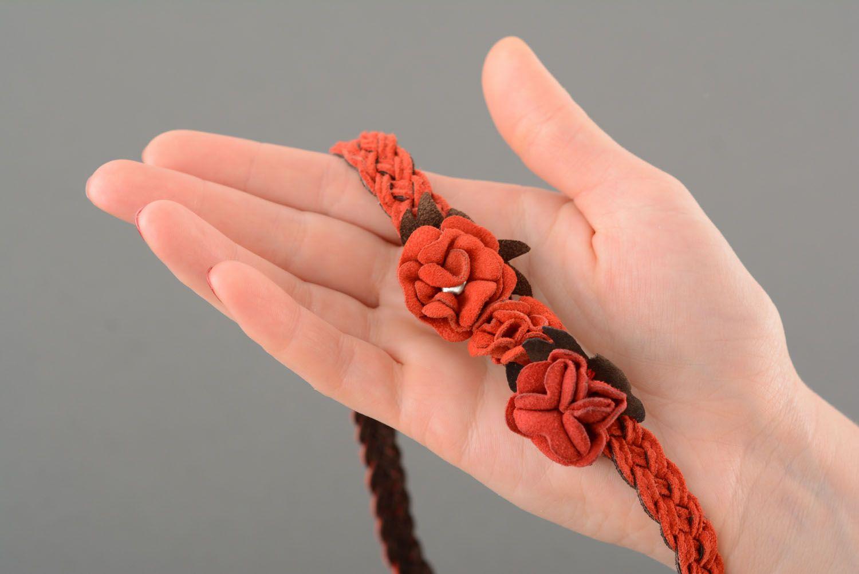 Haarband aus Leder foto 2