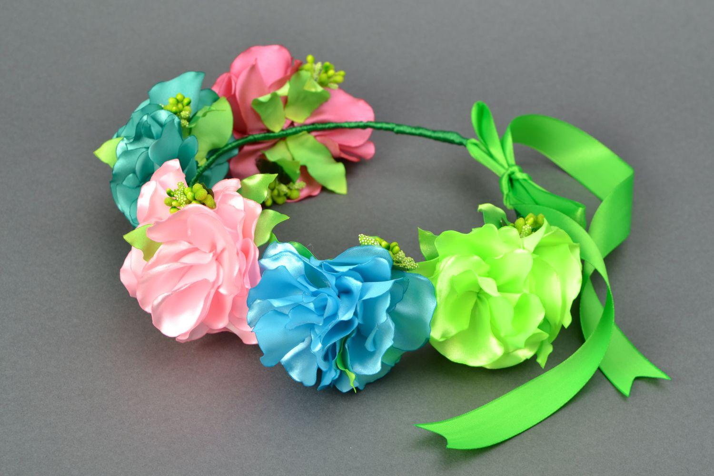 Фото ободков с цветами из лент