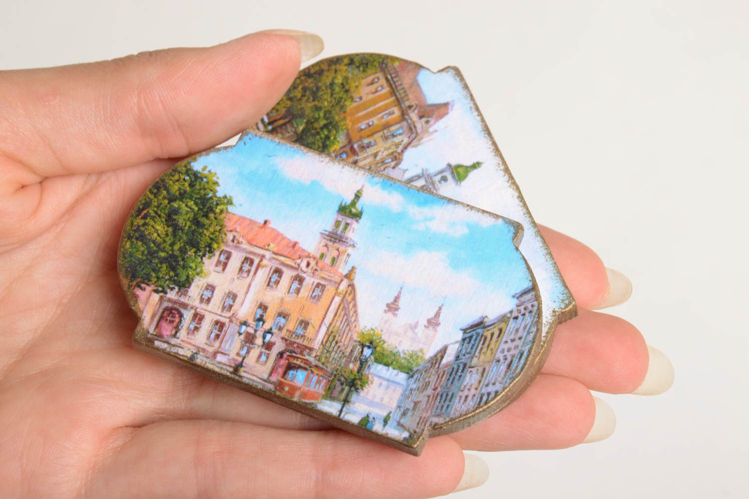 Handmade fridge magnet 2 pieces home decoration small gifts decorative use only photo 4