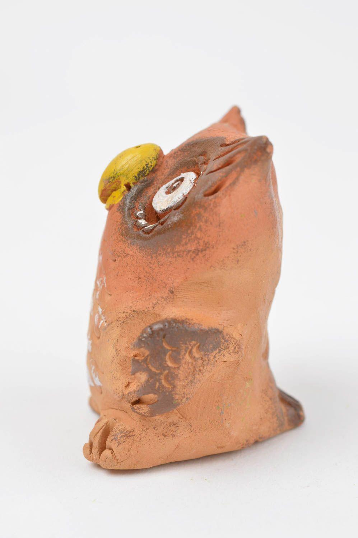 Figurinen Und Statuetten Eule Tier Figur Handmade Keramik Deko Wohnzimmer Dekoration Klein Bunt