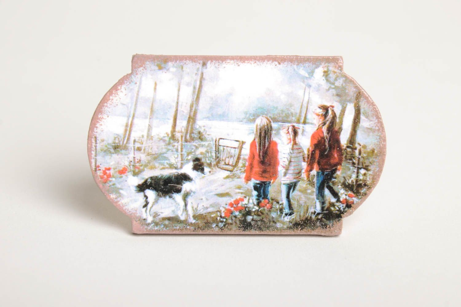 Unusual handmade magnet kitchen supplies decoupage ideas decorative use only photo 2