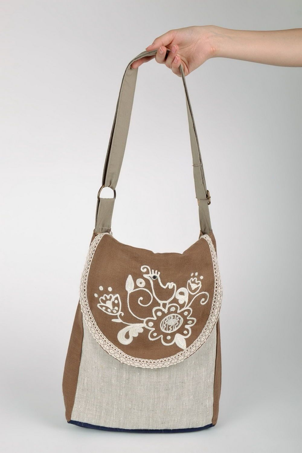 women's handbags Flax Shoulder Bag - MADEheart.com