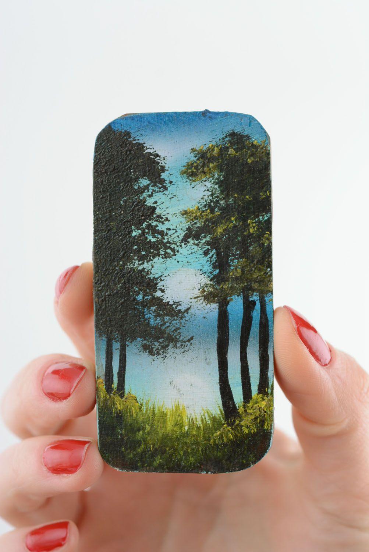 Wooden fridge magnet Pine Forest photo 3