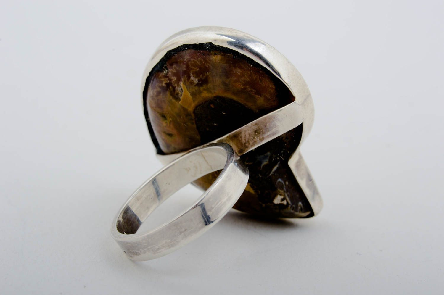 gemstone rings Handmade designer ring unusual mussel ring sea ring beautiful jewelry - MADEheart.com