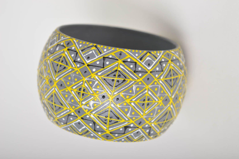 Handmade wooden cute accessory designer wrist bracelet elegant accessory photo 4