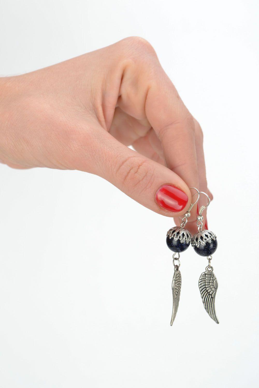 Earrings with aventurine Angel wings photo 2