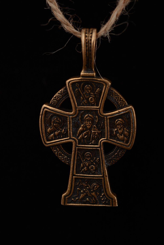 Крестик из бронзы ручной работы  фото 3