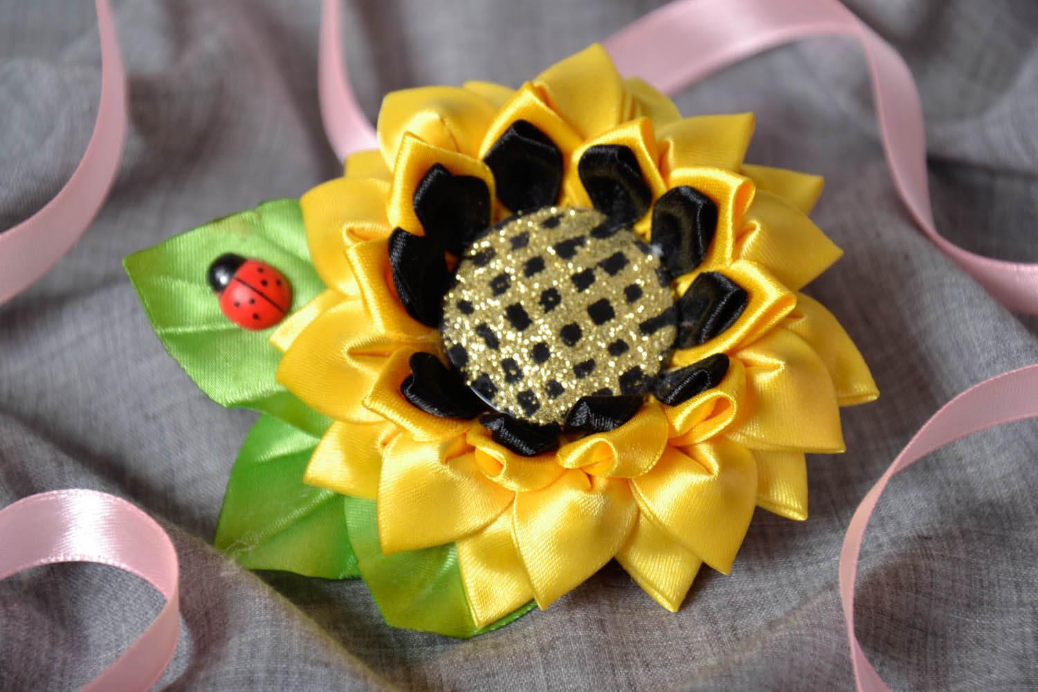 Hair clip Sunflower photo 1