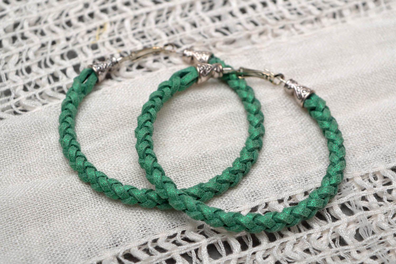 Green woven bracelet photo 1