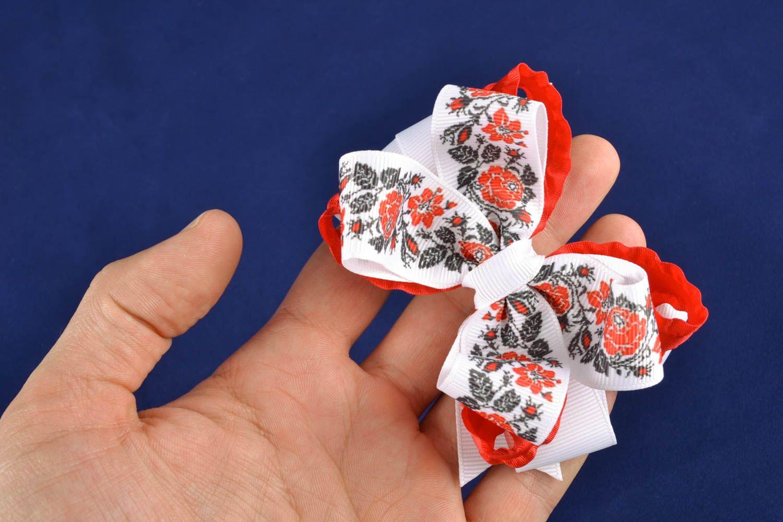 Заколки своими руками: бантики, цветы из атласных лент 39