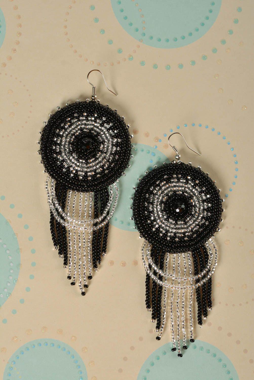 Pendientes de abalorios hechos a mano para mujer bisutería fina regalo original foto 1