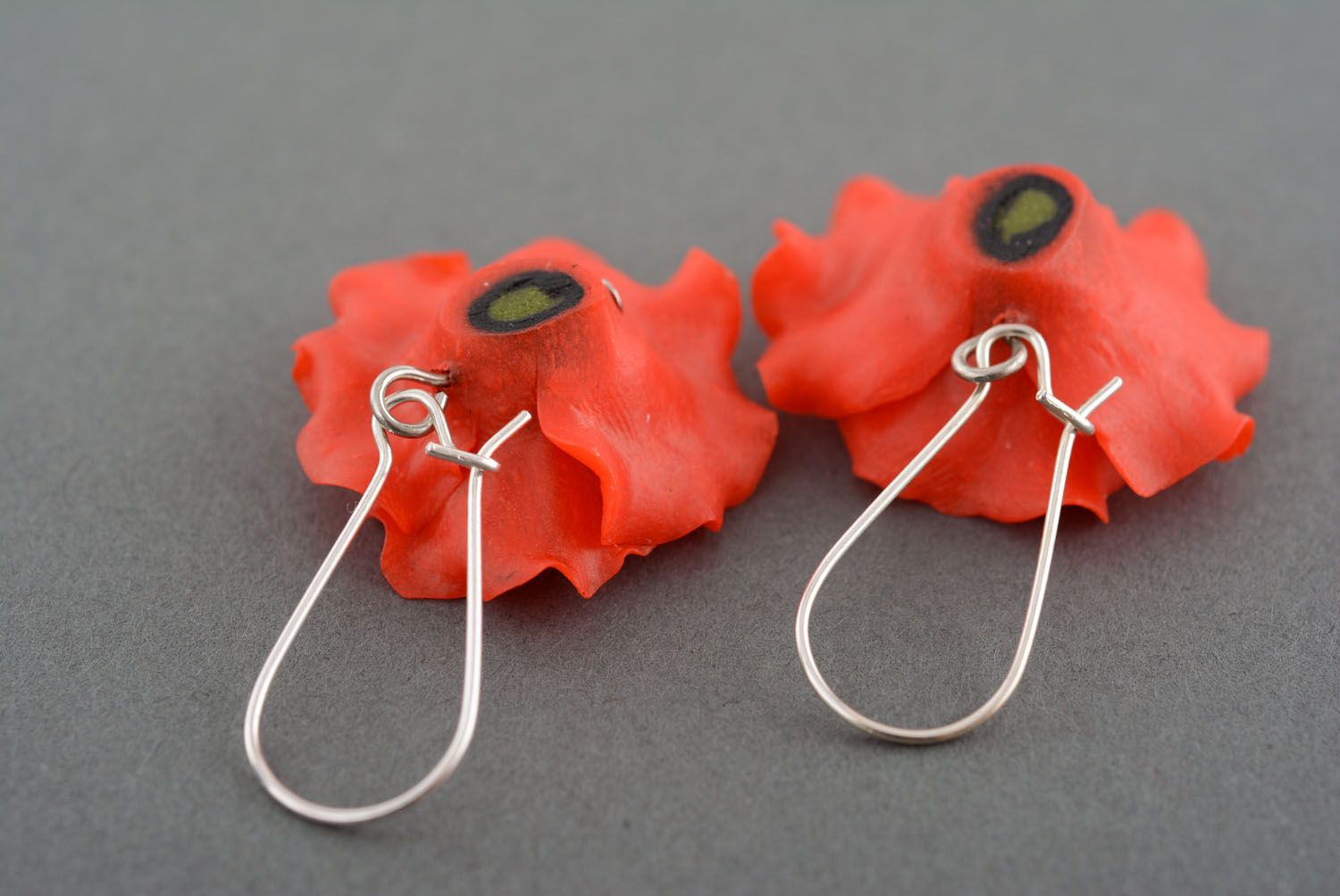 Earrings made of polymer clay photo 3