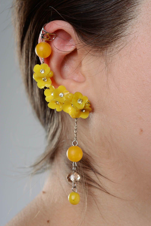 Cuff earrings Wild Flowers photo 3