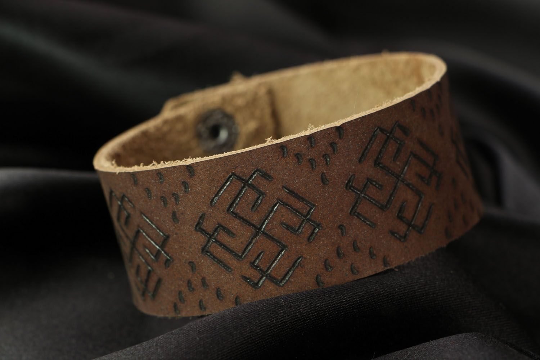 Кожаный браслет Сварожич фото 1