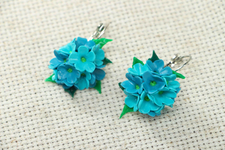 Polymer clay flower earrings photo 1