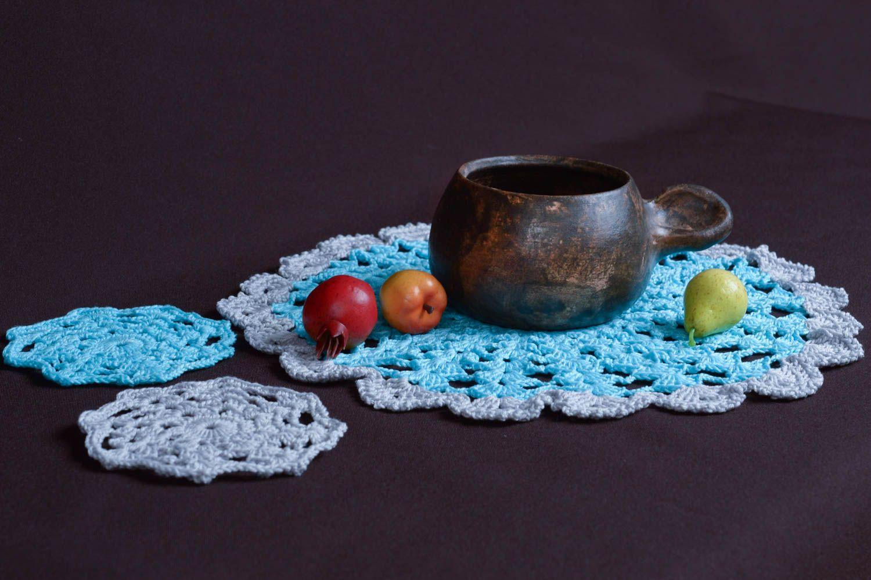 Madeheart servilletas tejidas a crochet hechas a mano - Decoracion textil hogar ...