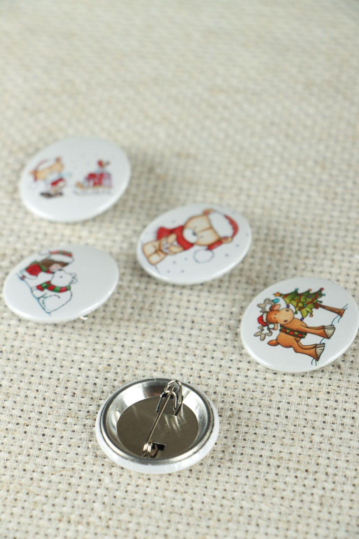 Набор детских значков на Рождество  фото 3