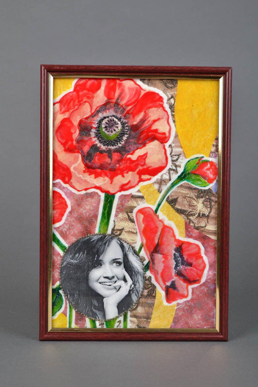 Glass photo frame Poppies photo 1