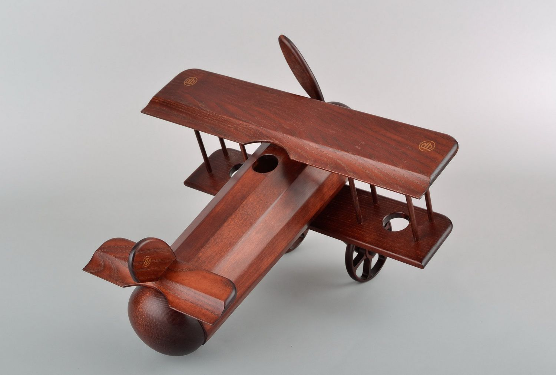 Wooden wine bottle stand Plane photo 4