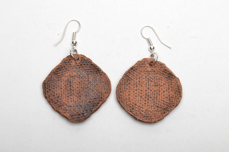 Handmade ceramic earrings photo 5