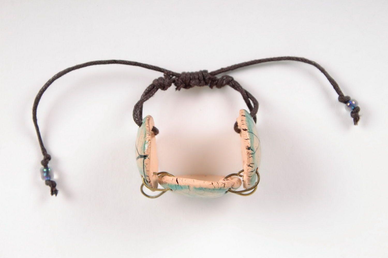 Joli bracelet en céramique fait main photo 3