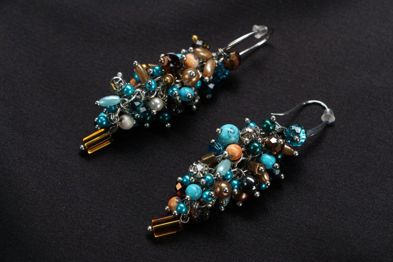 Natural stone earrings Sea Shore photo 1