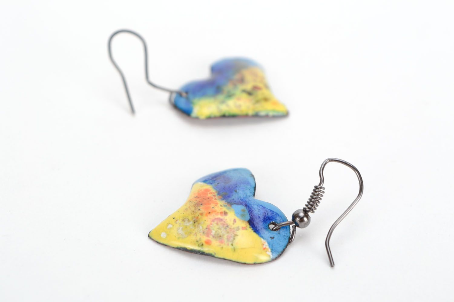 Copper heart earrings  photo 2