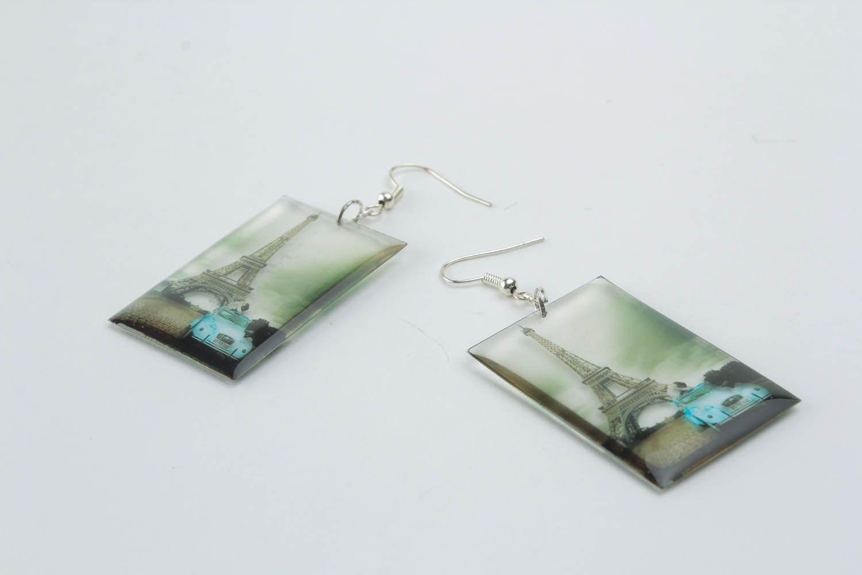 Photo print earrings Paris photo 3