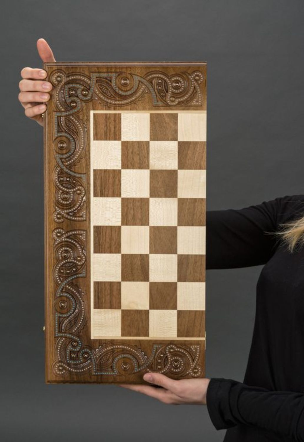 Wooden chess and backgammons photo 2