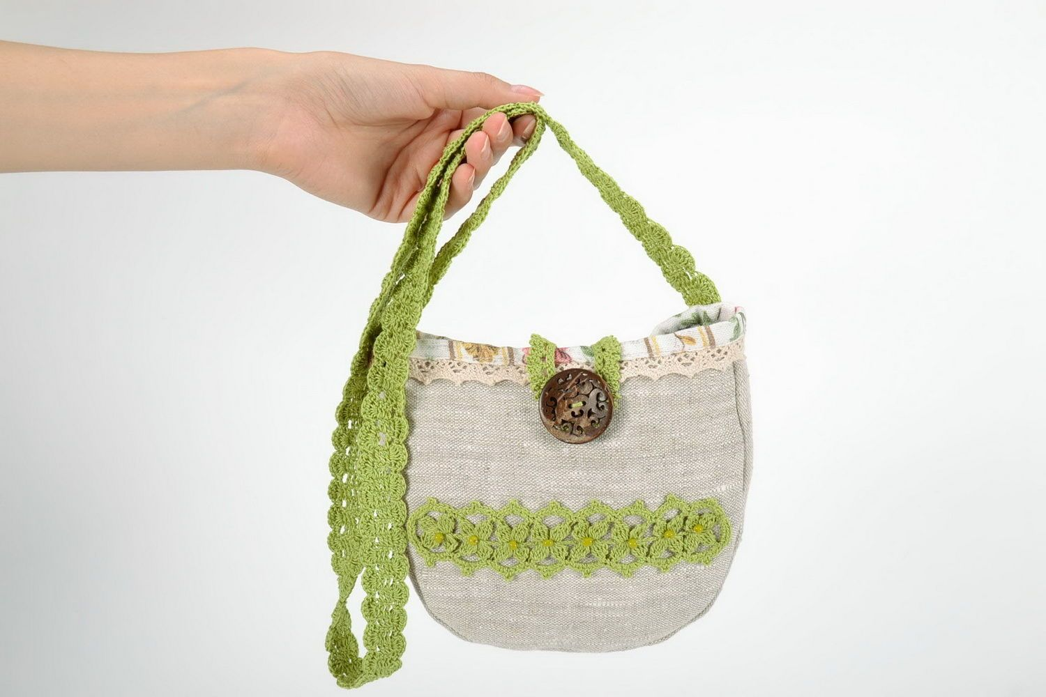 Bag made from flax and cotton  photo 5