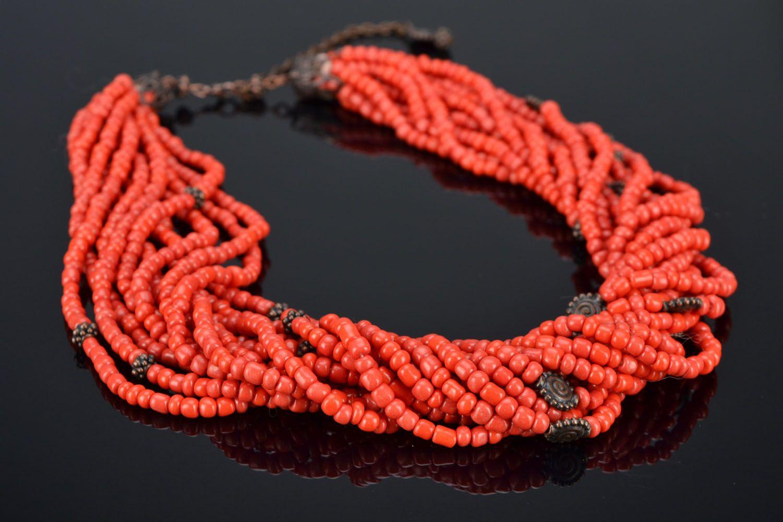 madeheart colar de contas de cor coral