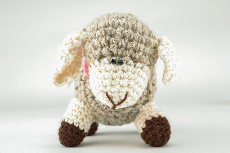 Вязание крючкомигрушка овечка 85