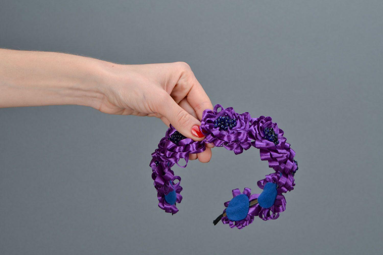 Фиолетовый обруч для волос  фото 2