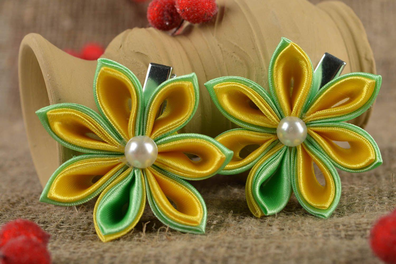 los accesorios infantiles Pinzas de pelo artesanales con flores accesorios para niñas regalos originales , MADEheart