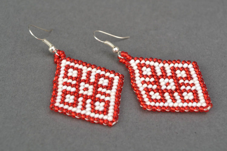 Beaded pendant earrings photo 4