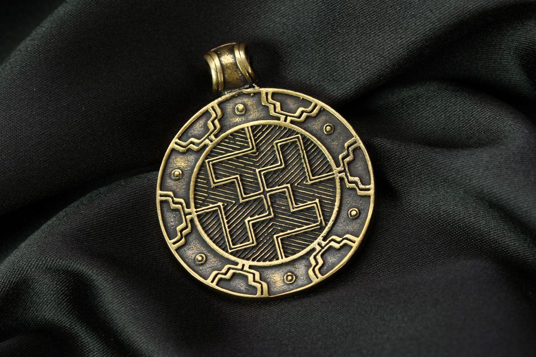 Bronze pendant Two-sided Solar photo 1