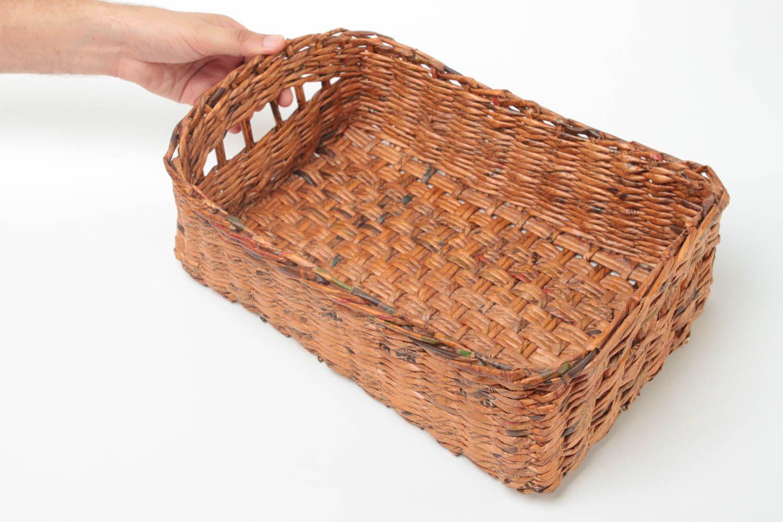 MADEHEART > Handgemachter breiter geflochtener Korb Geschenk für ...
