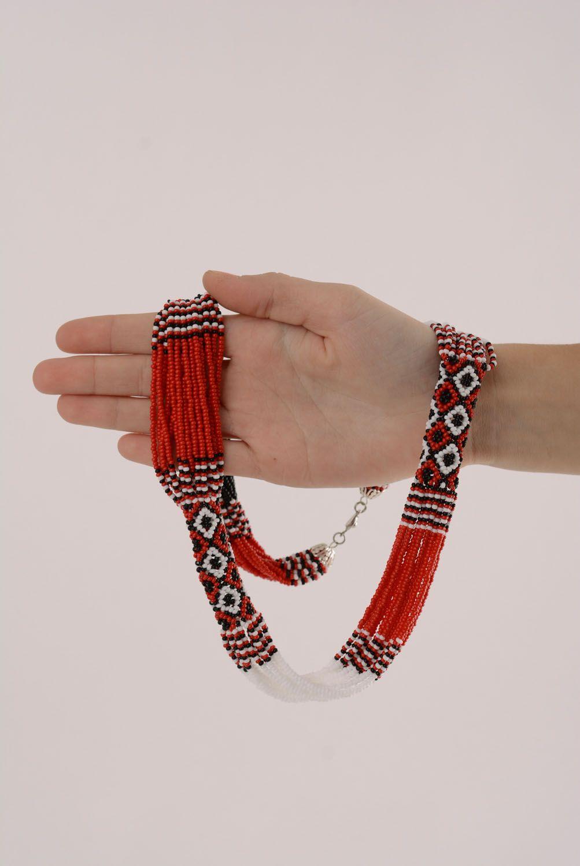 Beautiful ethnic beaded necklace photo 4