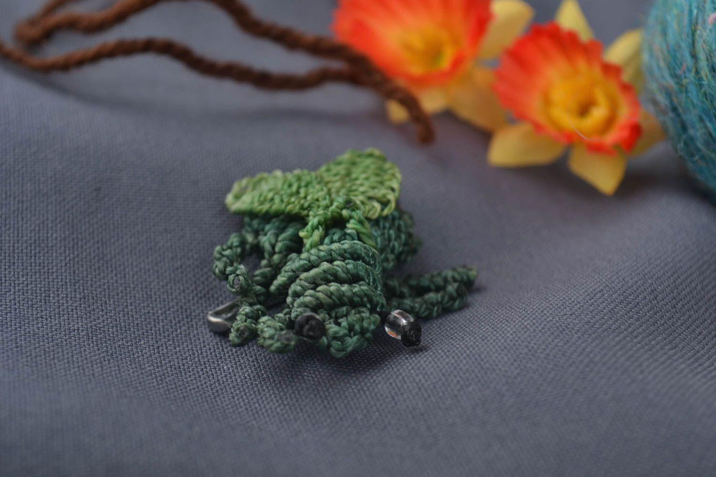Brosche Modeschmuck handmade Brosche Tier hochwertiger Modeschmuck in Grün foto 1
