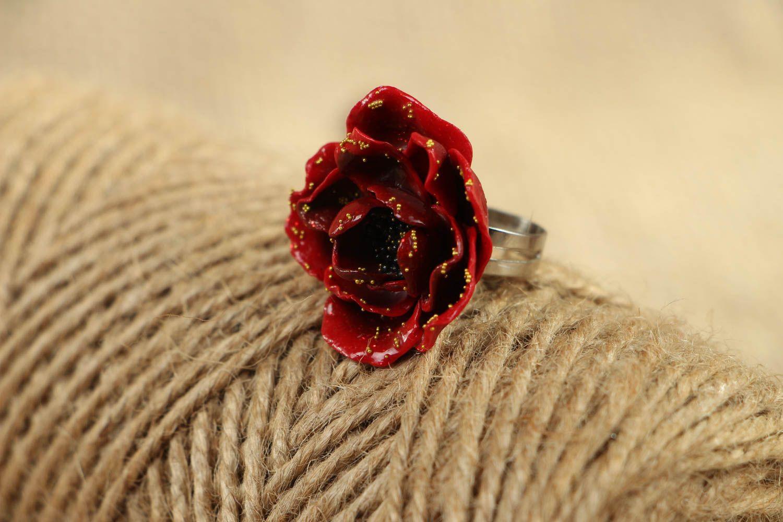Handmade polymer clay ring photo 5