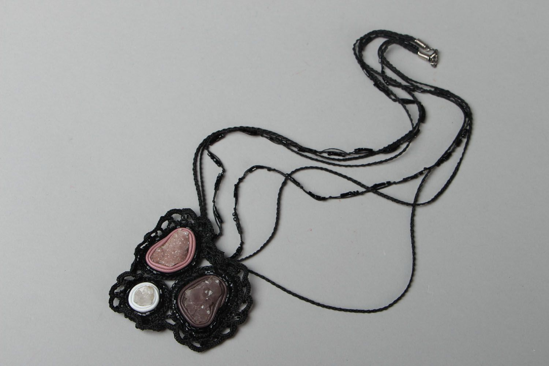 Beautiful pendant with amethyst photo 1
