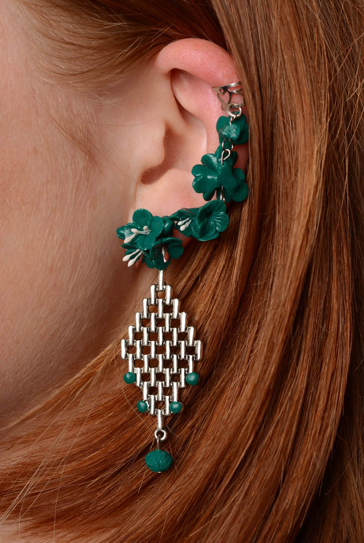 Cuff earrings Emerald photo 3